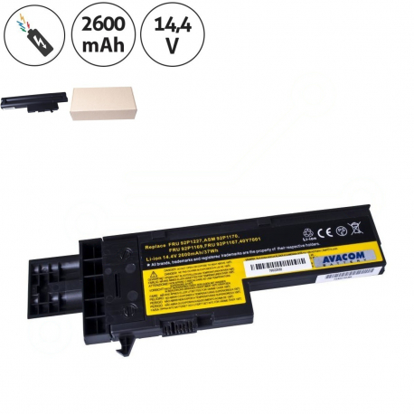 Lenovo ThinkPad X60 2510 Baterie pro notebook - 2600mAh 4 články + doprava zdarma + zprostředkování servisu v ČR