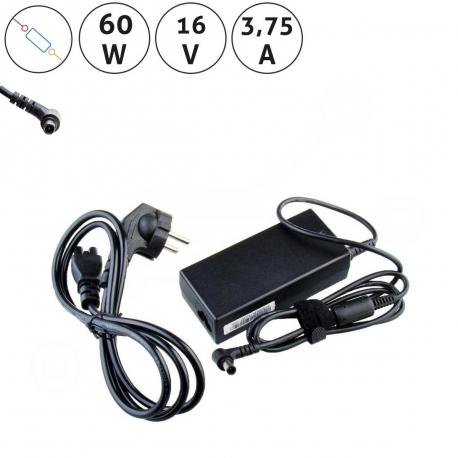 Sony Vaio VGN-TZ31MN Adaptér - Napájecí zdroj pro notebook - 16V 3,75A + zprostředkování servisu v ČR