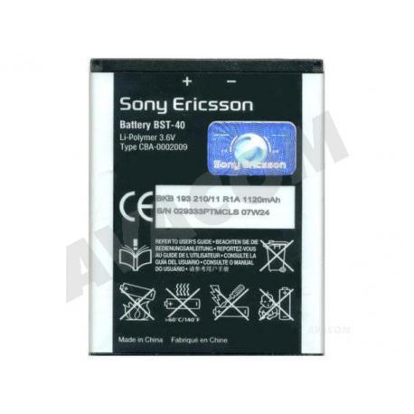 SONY ERICSSON BST-40 Baterie pro mobilní telefon - 1120mAh + zprostředkování servisu v ČR