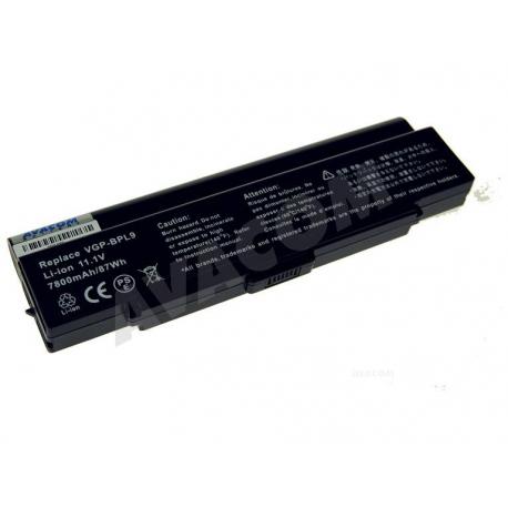 Sony Vaio VGN-AR61ZU Baterie pro notebook - 7800mAh 9 článků + doprava zdarma + zprostředkování servisu v ČR
