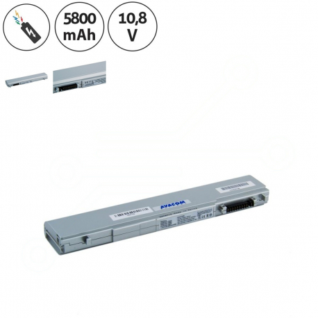 Toshiba Portege r600-11q Baterie pro notebook - 5800mAh + doprava zdarma + zprostředkování servisu v ČR