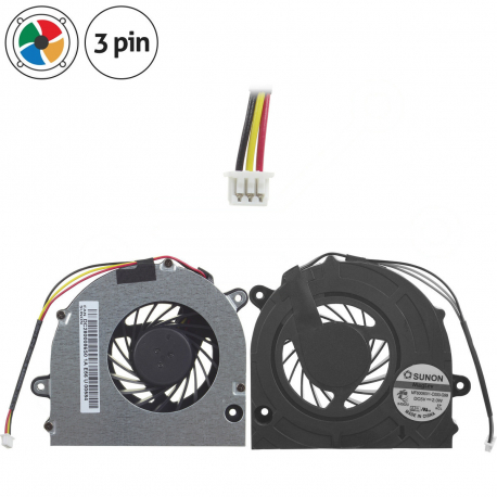 AB7005MX-ED3 Ventilátor pro notebook - 3 piny kovový kryt vrtule ( na 4 šroubkách ) 3 díry na šroubky + zprostředkování servisu v ČR