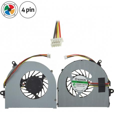 Lenovo IdeaPad N581 Ventilátor pro notebook - 4 piny kovový kryt vrtule ( na 4 šroubkách ) 2 díry na šroubky 11 ~ 12 cm + zprostředkování servisu v ČR