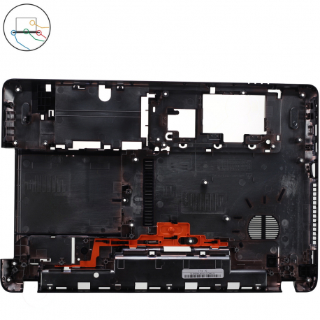 AP0NN000100321 Spodní vana pro notebook - černá napájení, LAN, VGA, HDMI, USB, mikrofón a sluchátka 2 x USB, DVD a zámeček + doprava zdarma + zprostředkování servisu v ČR