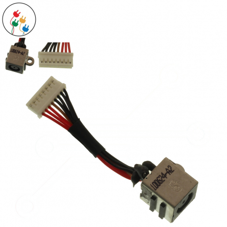 Dell Inspiron 17R-7720 Napájecí konektor - dc jack pro notebook - 8 pinů s připojovacím kabelem plast + zprostředkování servisu v ČR