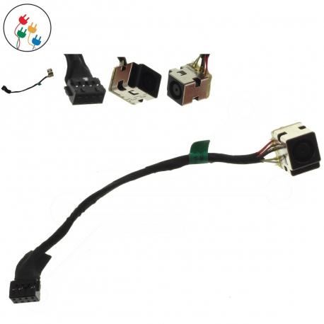 HP ProBook 4545s Napájecí konektor - dc jack pro notebook - délka 13 cm 8 pinů ( 7 kontaktů ) s připojovacím kabelem kov + zprostředkování servisu v ČR