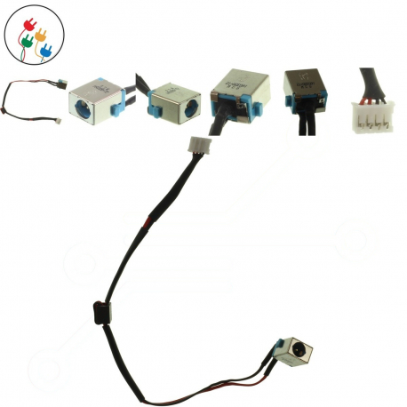 Packard Bell EasyNote TV44 Napájecí konektor pro notebook - s připojovacím kabelem kov + zprostředkování servisu v ČR