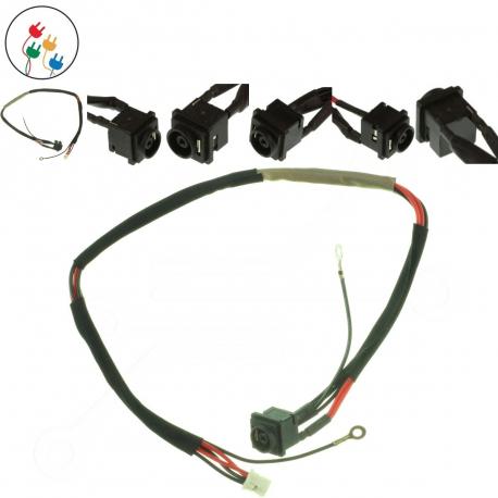 Sony Vaio VGN-FW21E Napájecí konektor - dc jack pro notebook - 4 piny s připojovacím kabelem plast + zprostředkování servisu v ČR