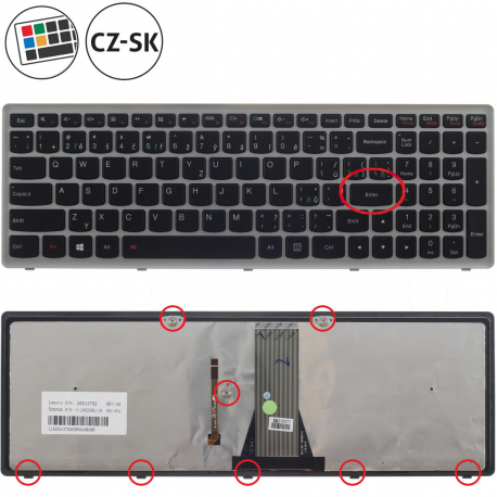 Lenovo G505s Klávesnice pro notebook - CZ / SK + doprava zdarma + zprostředkování servisu v ČR
