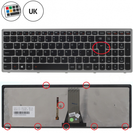 Lenovo G500H Klávesnice pro notebook - anglická - UK + zprostředkování servisu v ČR