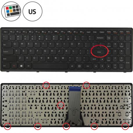 Lenovo IdeaPad Z510A Klávesnice pro notebook - americká - US + zprostředkování servisu v ČR
