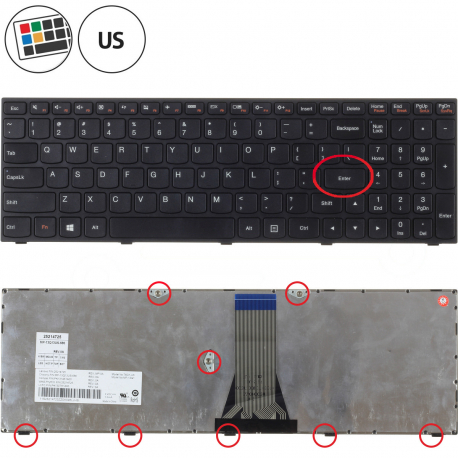 Lenovo IdeaPad G50-45 80MQ Klávesnice pro notebook - americká - US + zprostředkování servisu v ČR