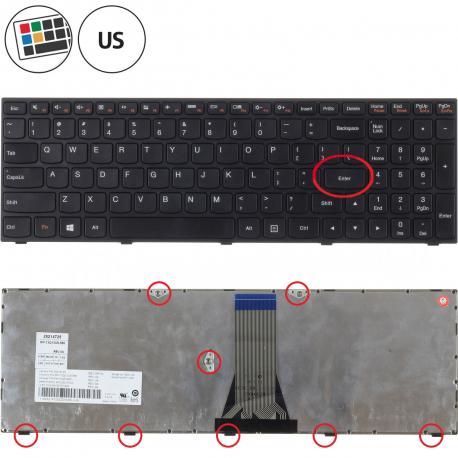 Lenovo IdeaPad 300-15IBR Klávesnice pro notebook - americká - US + zprostředkování servisu v ČR