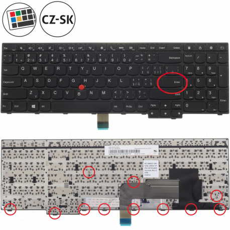 Lenovo ThinkPad Edge E540 Klávesnice pro notebook - CZ / SK + doprava zdarma + zprostředkování servisu v ČR