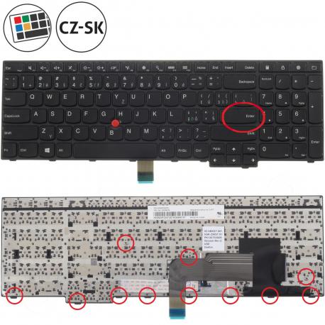 Lenovo ThinkPad Edge E555 Klávesnice pro notebook - CZ / SK + doprava zdarma + zprostředkování servisu v ČR