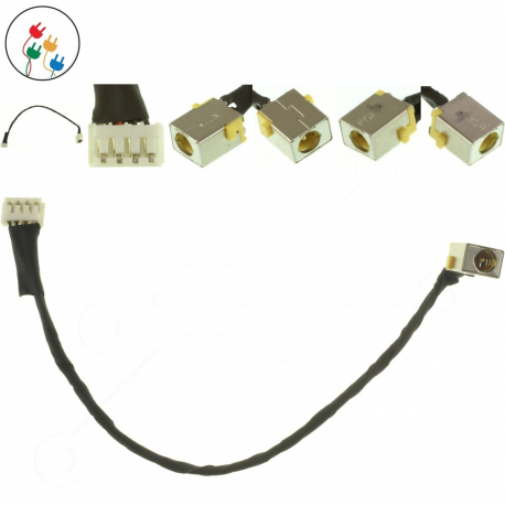 Packard Bell TE11HC Napájecí konektor - dc jack pro notebook - 4 pinů s připojovacím kabelem + zprostředkování servisu v ČR