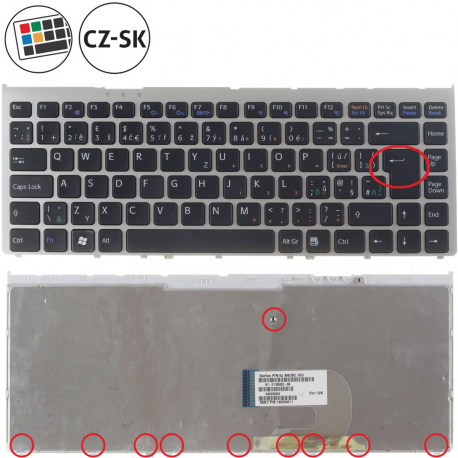 Sony Vaio VGN-FW11ZU Klávesnice pro notebook - CZ / SK + doprava zdarma + zprostředkování servisu v ČR