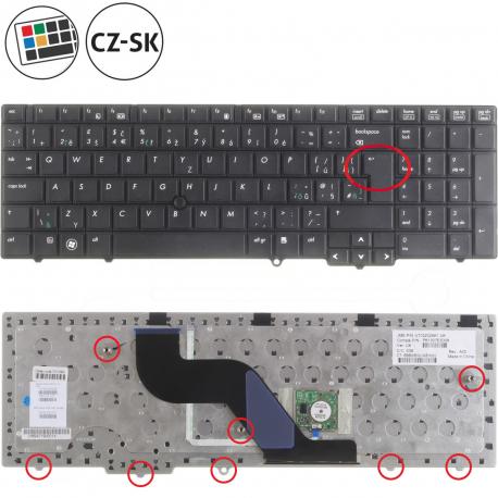 HP ProBook 6550b Klávesnice pro notebook - CZ / SK + doprava zdarma + zprostředkování servisu v ČR