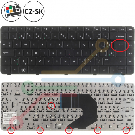 HP Pavilion G4-1117DX Klávesnice pro notebook - CZ / SK + zprostředkování servisu v ČR