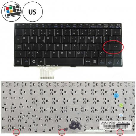 Asus Eee PC 900A Klávesnice pro notebook - americká - US + zprostředkování servisu v ČR
