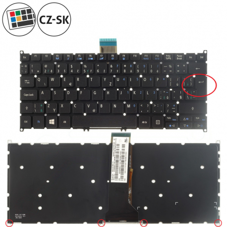 Acer Aspire S3-391 Klávesnice pro notebook - CZ / SK + zprostředkování servisu v ČR