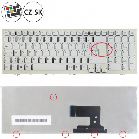 Sony Vaio VPC-EH1S0E Klávesnice pro notebook - CZ / SK + doprava zdarma + zprostředkování servisu v ČR