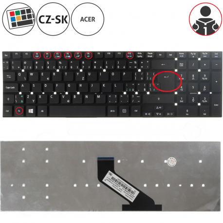 Acer Aspire E5-551 Klávesnice pro notebook - CZ / SK + zprostředkování servisu v ČR