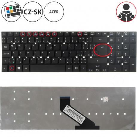 Acer Aspire E5-572G Klávesnice pro notebook - CZ / SK + zprostředkování servisu v ČR