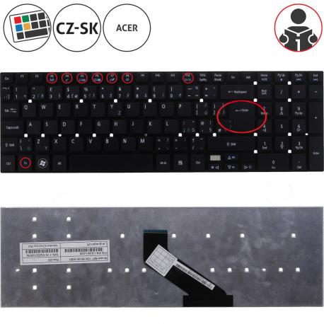 Acer Aspire ES1-512-C35P Klávesnice pro notebook - CZ / SK + zprostředkování servisu v ČR