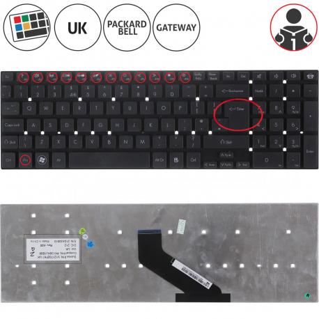 Packard Bell EasyNote LS13HR Klávesnice pro notebook - anglická - UK + zprostředkování servisu v ČR
