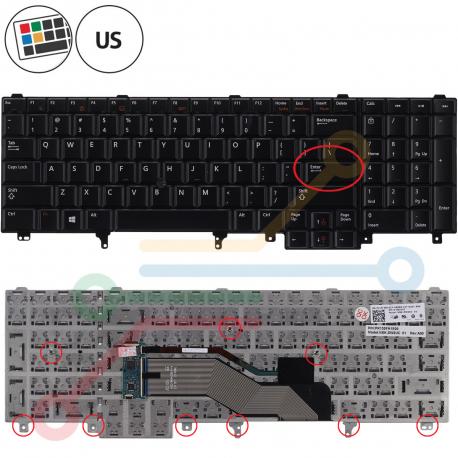 Dell Precision M6700 Klávesnice pro notebook - americká - US + zprostředkování servisu v ČR