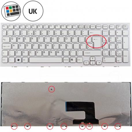 Sony Vaio VPCEH1M1E Klávesnice pro notebook - anglická - UK + doprava zdarma + zprostředkování servisu v ČR