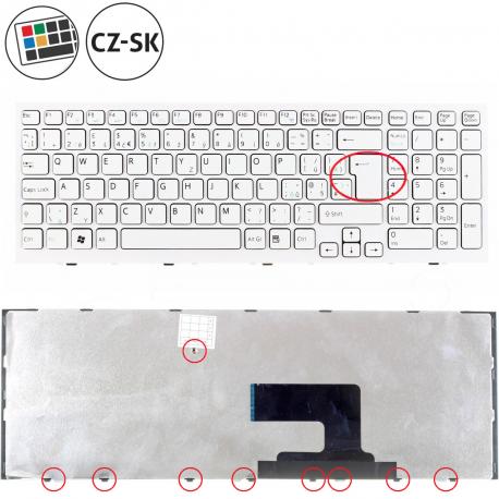 Sony Vaio VPCEH1L8E Klávesnice pro notebook - CZ / SK + doprava zdarma + zprostředkování servisu v ČR