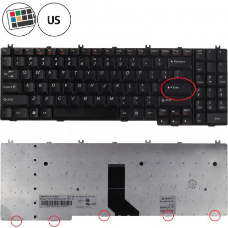 Lenovo IdeaPad G550 Klávesnice pro notebook - americká - US + zprostředkování servisu v ČR
