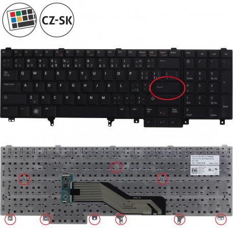 Dell Latitude E6520 Klávesnice pro notebook - CZ / SK + zprostředkování servisu v ČR