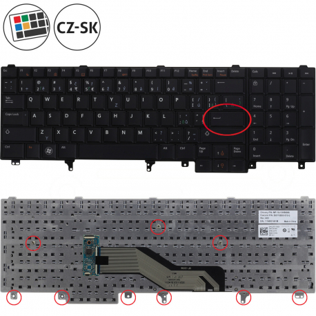 Dell Latitude E6540 Klávesnice pro notebook - CZ / SK + zprostředkování servisu v ČR