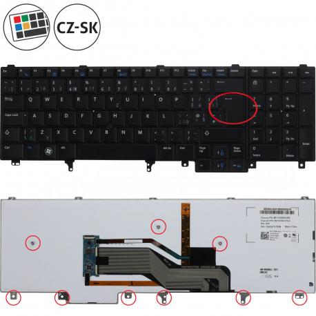 Dell Latitude E6520 Klávesnice pro notebook - CZ / SK + doprava zdarma + zprostředkování servisu v ČR