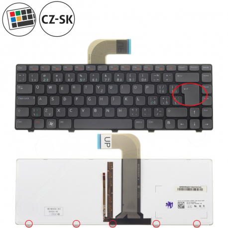 Dell Vostro 3560 Klávesnice pro notebook - CZ / SK + doprava zdarma + zprostředkování servisu v ČR