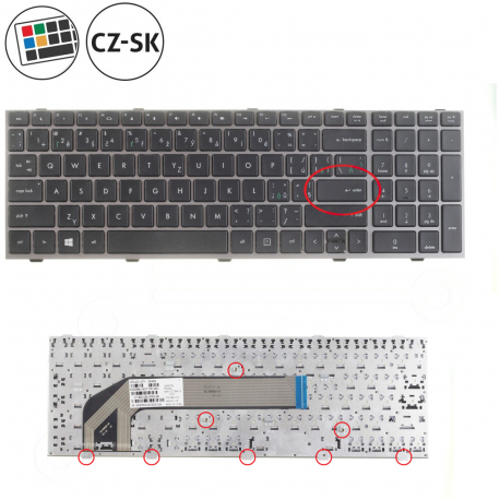 HP ProBook 4545s Klávesnice pro notebook - CZ / SK + doprava zdarma + zprostředkování servisu v ČR