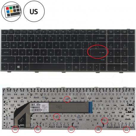 HP 4540s Klávesnice pro notebook - americká - US + zprostředkování servisu v ČR