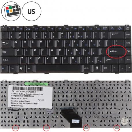 Fujitsu Siemens AMILO Si 2636 Klávesnice pro notebook - americká - US + zprostředkování servisu v ČR