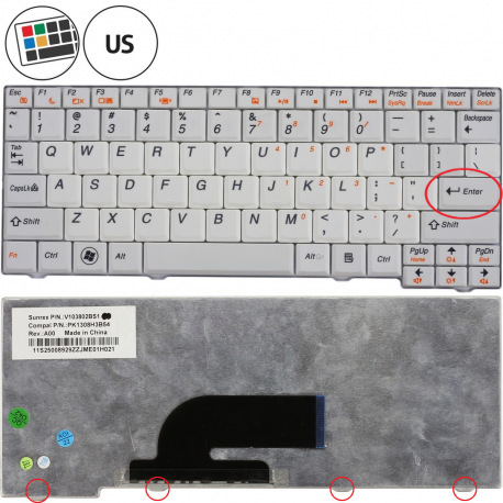 Lenovo S100C Klávesnice pro notebook - americká - US + zprostředkování servisu v ČR