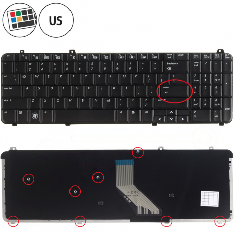 HP Pavilion dv6-1230US Klávesnice pro notebook - americká - US + zprostředkování servisu v ČR