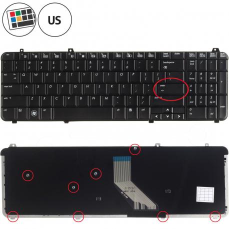 HP Pavilion dv6-1330ea Klávesnice pro notebook - americká - US + zprostředkování servisu v ČR