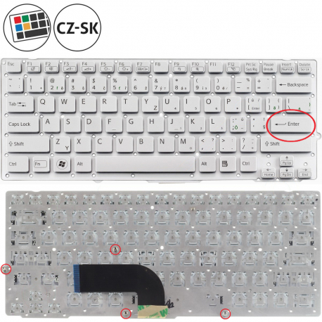Sony Vaio PCG-41211M Klávesnice pro notebook - CZ / SK + doprava zdarma + zprostředkování servisu v ČR