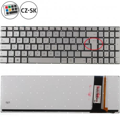 Asus N76VM-V2G-T1010V Klávesnice pro notebook - CZ / SK + doprava zdarma + zprostředkování servisu v ČR