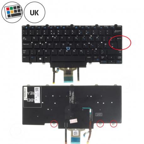 Dell Latitude E7450 Klávesnice pro notebook - anglická - UK + zprostředkování servisu v ČR