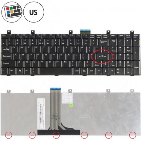 MSI GT640 Klávesnice pro notebook - americká - US + zprostředkování servisu v ČR