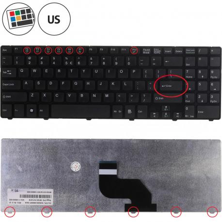Medion Akoya P6631 Klávesnice pro notebook - americká - US + zprostředkování servisu v ČR