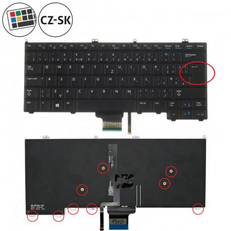 Dell Latitude E7240 Klávesnice pro notebook - CZ / SK + doprava zdarma + zprostředkování servisu v ČR